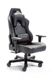Robas Lund 62543NN4 DX Racer12 Gaming-/Büro-/Schreibtischstuhl, Chefsessel mit Armlehnen, Wide Serie, 69 x 127-134 x 76 cm, Gestell Alu, Bezug Kunstleder, schwarz - 1
