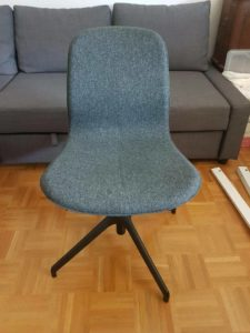 Kinderschreibtischstuhl ohne Rollen Sitzfläche